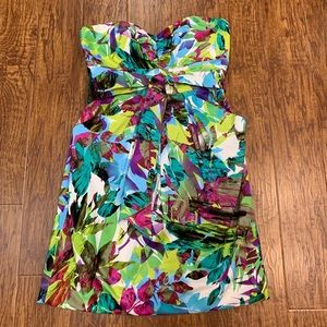 Suzi Chin floral strapless dress size 10